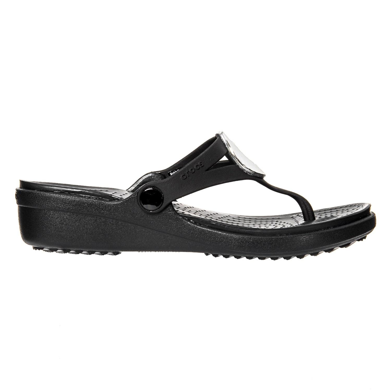 c6269c72da77a Crocs Sanrah Hammered Metallic Wedge Flip-Flops (For Women) - Save 55%