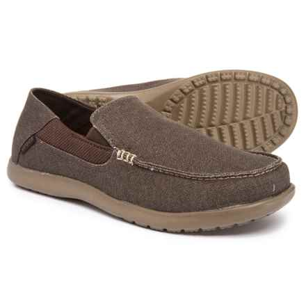 Crocs Santa Cruz 2 Luxe Loafers (For Men) in Espresso/Walnut