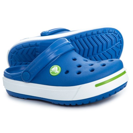 38598d79ca Crocs Sea Blue-Lime Crocband II Clogs (For Boys) in Sea Blue/