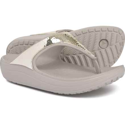 48c654201c8c Crocs Sloane Embellished Flip-Flops (For Women) in Platinum Platinum