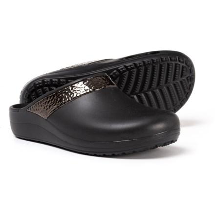316a4c4bf0d66 Crocs Sloane Hammered Clogs (For Women) in Black Black