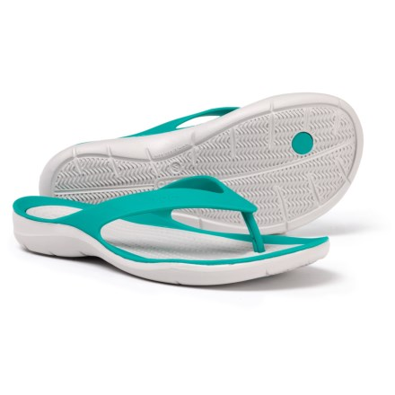 Crocs Swiftwater Flip-Flops (For Women) in Tropical Teal Pearl White 0c2caeb78