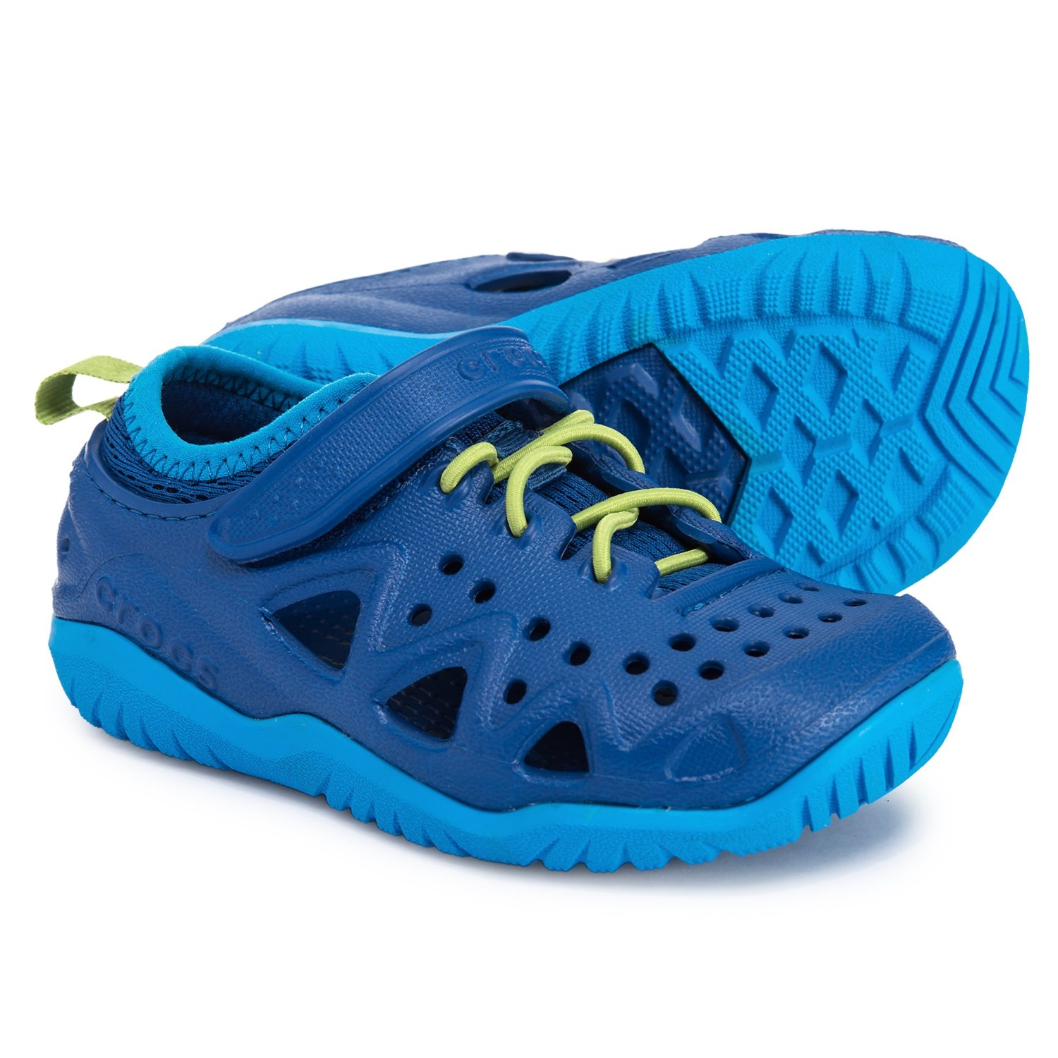 4428ff4a2 Crocs Swiftwater Play Shoes (For Boys) in Blue Jean Green