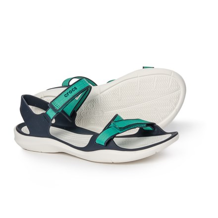9e334c9139928 Crocs Swiftwater Webbing Sandals (For Women) in Tropical Teal