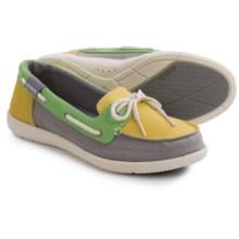 Crocs Walu Canvas Boat Shoes (For Women) in Buttercup/Smoke - Closeouts
