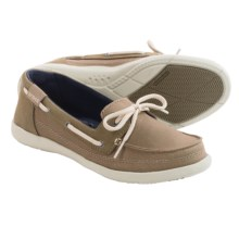 Crocs Walu Canvas Boat Shoes (For Women) in Khaki/Stucco - Closeouts