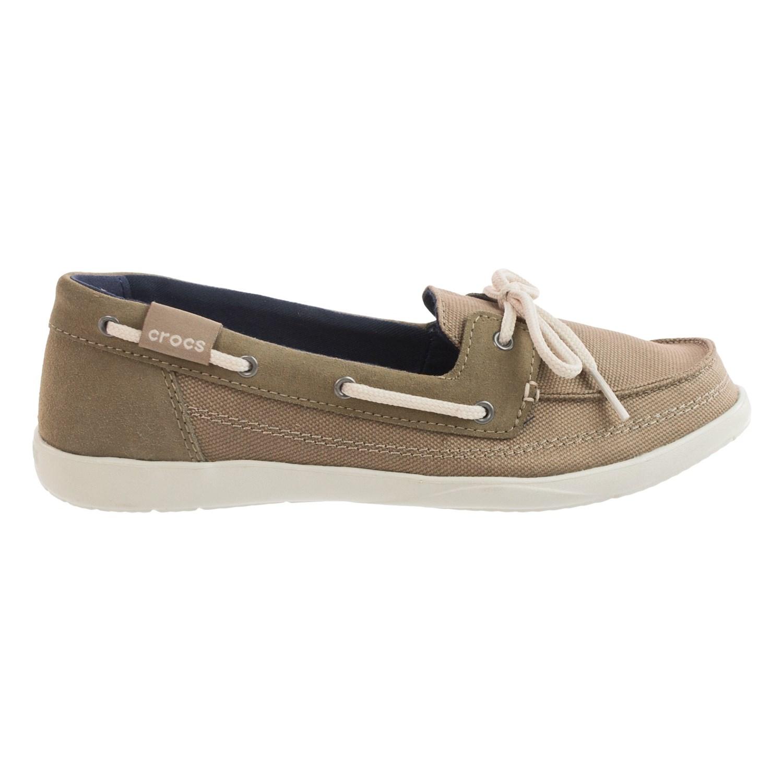 crocs walu canvas boat shoes for 126ay save 46