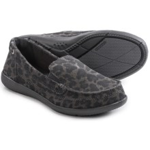 Crocs Walu Leopard-Print Shoes - Slip-Ons (For Women) in Light Grey/Graphite - Closeouts