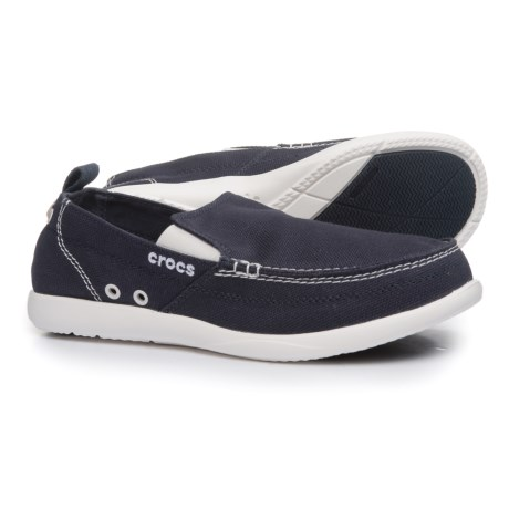 Crocs Walu Loafers (For Men) in Navy/White