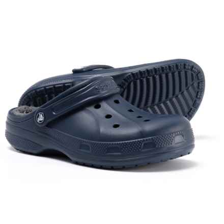 Crocs Winter Clogs - Lined (For Men) in Navy/Charcoal