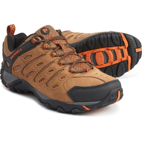 Crosslander 2 Hiking Shoes - Leather (For Men) - BROWN/ORANGE (11 )
