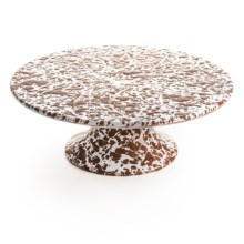 Crow Canyon Cake Stand - Enamelware in Brown - Closeouts