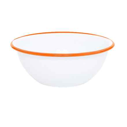 Crow Canyon Enamelware Cereal Bowl in White/Orange - Closeouts
