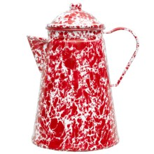 Crow Canyon Enamelware Coffee Pot - Large in Red Marble - Closeouts