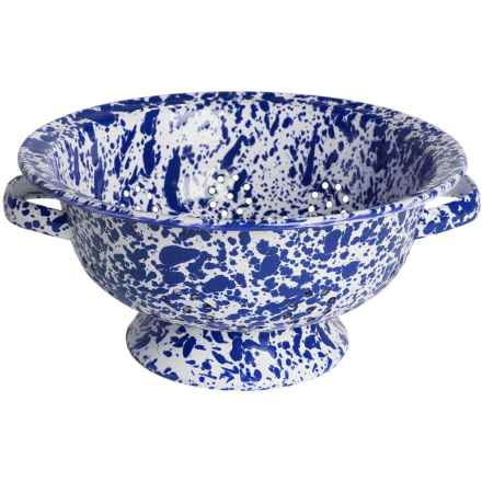 Crow Canyon Enamelware Colander - Small in Dark Blue Marble - Closeouts