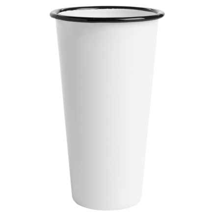 Crow Canyon Enamelware Jumbo Tumbler - 26 fl.oz. in White/Black - Closeouts
