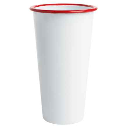 Crow Canyon Enamelware Jumbo Tumbler - 26 fl.oz. in White/Red - Closeouts