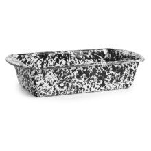 Crow Canyon Enamelware Loaf Pan in Black Marble - Closeouts