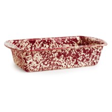 Crow Canyon Enamelware Loaf Pan in Burgundy Cream Marble - Closeouts