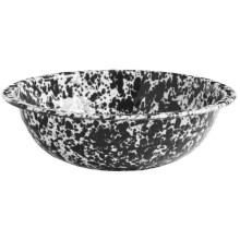 Crow Canyon Enamelware Mini Basin in Black Marble - Closeouts