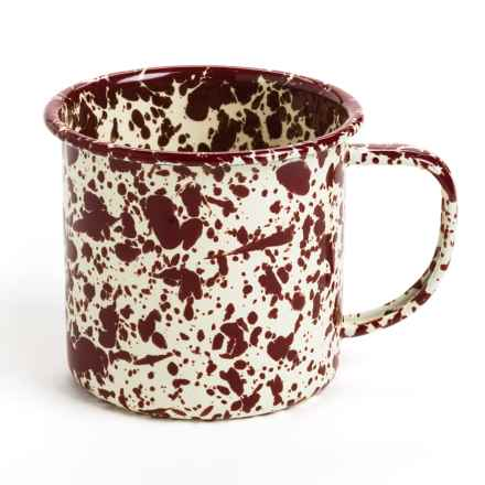Crow Canyon Enamelware Mug in Burgundy Marble - Closeouts