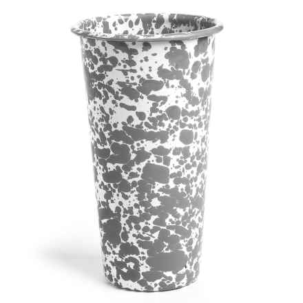 Crow Canyon Enamelware Tumbler Glass - 26 fl.oz. in Grey - Closeouts
