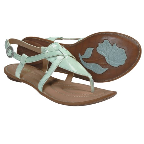 Crown by Born Aberlin Sandals - Leather (For Women) in Light Blue Patent