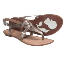 Crown by Born Aberlin Sandals - Leather (For Women) in Pine Nuts Metallic - Closeouts