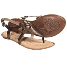Crown by Born Aberlin Sandals - Leather (For Women) in Wood Metallic - Closeouts