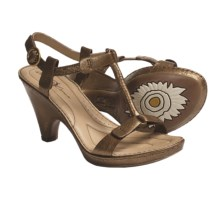 Crown by Born Alcala II T-Strap Sandals - Leather (For Women) in Gold Metallic - Closeouts