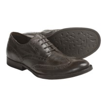 Crown by Born Aston Wingtip Shoes - Leather (For Men) in Dark Brown Veg - Closeouts
