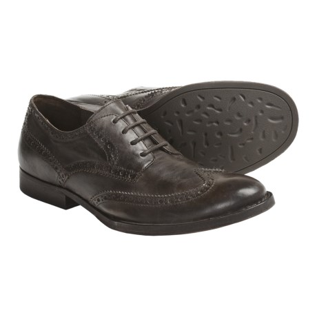 Crown by Born Aston Wingtip Shoes - Leather (For Men) in Dark Brown Veg