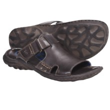 Crown by Born Damian Sandals - Leather (For Men) in Dark Brown Leather - Closeouts