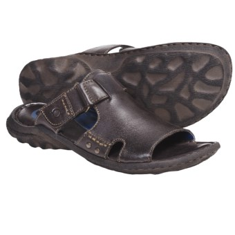 Crown by Born Damian Sandals - Leather (For Men) in Dark Brown Leather