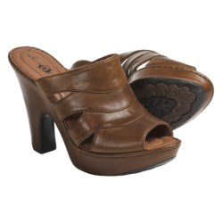 Crown by Born Dayna Sandals - Leather (For Women) in Tan Brush Off
