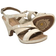 Crown by Born Dorian Sandals - Leather, Ankle Strap (For Women) in Cream Patent - Closeouts