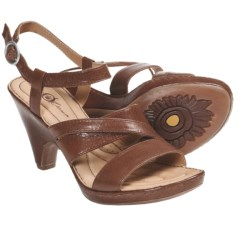 Crown by Born Dorian Sandals - Leather, Ankle Strap (For Women) in Rust Leather