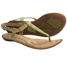 Crown by Born Farrah Sandals - Leather (For Women) in Green Patent - Closeouts