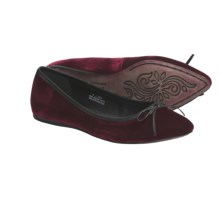 Crown by Born Franca Ballet Flats (For Women) in Burgundy Velvet - Closeouts