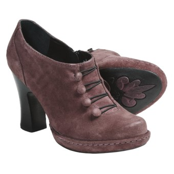 Crown by Born Hetty Ankle Boots - Side Zip (For Women) in Dusty Rose Suede