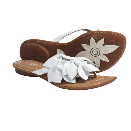 Crown by Born Honeysuckle Sandals - Leather (For Women) in Bianco