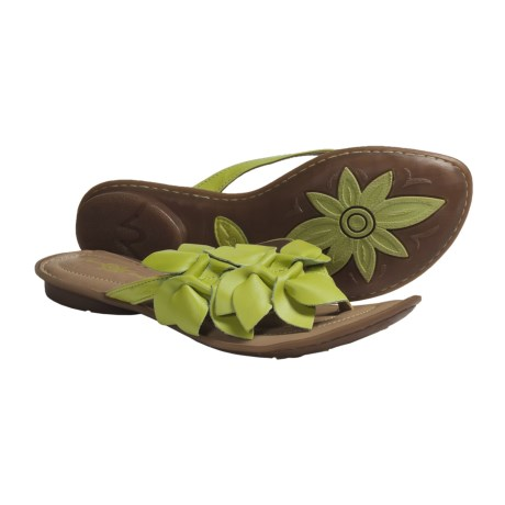 Crown by Born Honeysuckle Sandals - Leather (For Women) in Lime