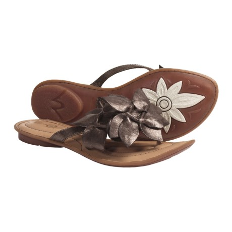 Crown by Born Honeysuckle Sandals - Leather (For Women) in Moro Metallic