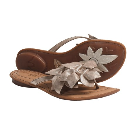 Crown by Born Honeysuckle Sandals - Leather (For Women) in Rame Metallic