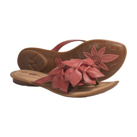 Crown by Born Honeysuckle Sandals - Leather (For Women) in Tea Rose