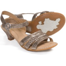 Crown by Born Jessika Leather Sandals (For Women) in Pine Nuts Metallic - Closeouts