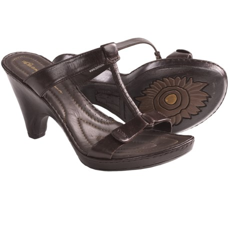 Crown by Born Katia Sandals - Leather (For Women) in Chocolate