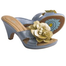 Crown by Born Layla Sandals - Leather (For Women) in Blue/Yellow Metallic - Closeouts