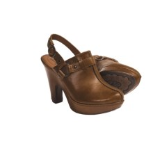 Crown by Born Mirna Platform Clogs - Leather, Sling-Back (For Women) in Tan Brush Off - Closeouts