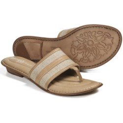 Crown by Born Natania Linen Sandals (For Women) in Stone